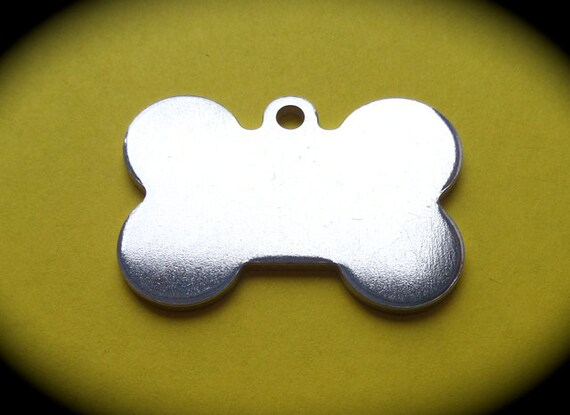 """1 Blank - 1-3/8 """" x 1"""" Dog Bone Charms 14 Gauge  with Hanging Loop Pure Food Safe Aluminum Qty 1"""
