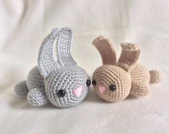 Handmade Crochet Mummy and Baby Bunny Rabbits Wool Soft Toy Gift
