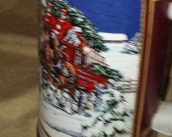 Vintage 1989 Budweiser Collector's Series Holiday Stein