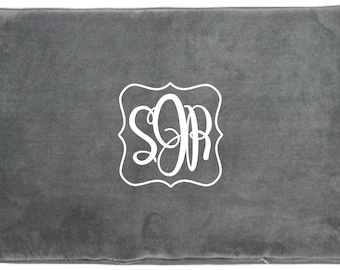 Monogrammed Microfiber Memory Foam Bath or Kitchen Mat 18x27