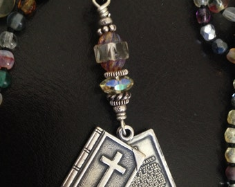 Christian Jewelry with Lords Prayer Inside, Pendant Charm