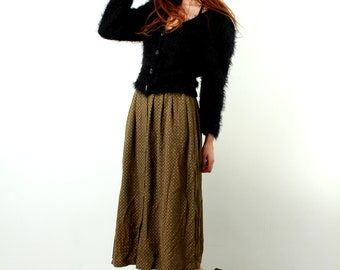 Fuzzy Sweater / Shaggy Sweater / Long Hair Cardigan / Short Cardigan / Women / Shaggy Blouse / Button Down / 90s Grunge Sweater / Casual / M