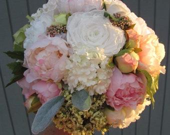 Brides Bouquet, Custom Bridal Bouquet, Silk Bridal Bouquets, Wedding Bouquet, Silk Bouquet, Preserved and Silk Wedding Bouquet