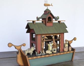 Heirloom Wooden Noah's Ark