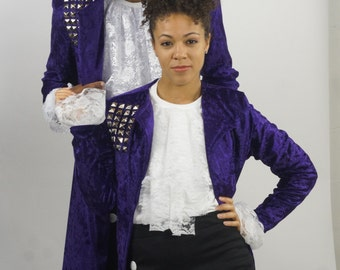 Classic Prince Purple Rain Costume 3 Piece set, Mens and Womens , Made to Order, Build your costume