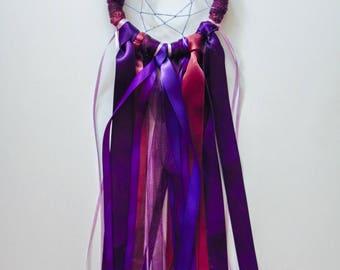 Red and Purple Dreamcatcher - Medium // Dream Magic
