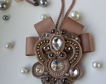 Beautiful handmade soutache  pendant