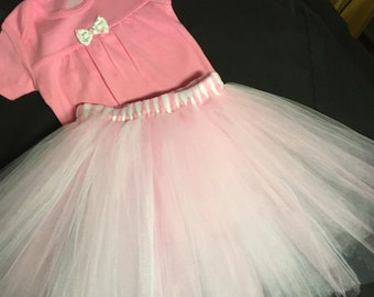 Toddler Tutu Skirt and OneZ set in 18 month size.