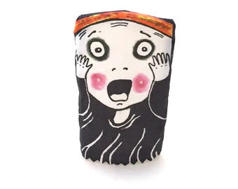Funny Finger Puppet Parody of The Scream, Fun Gift for CoWorker