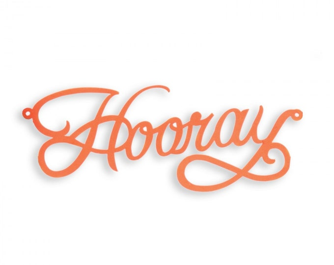 Sizzix Thinlits Die - Cake Topper, Hooray by Where Women Cook 660892