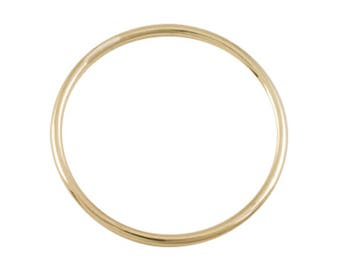 Thin Gold Ring 1mm - 14k Solid Gold