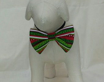 Pet Costume Christmas Bow Tie; dogs and cats
