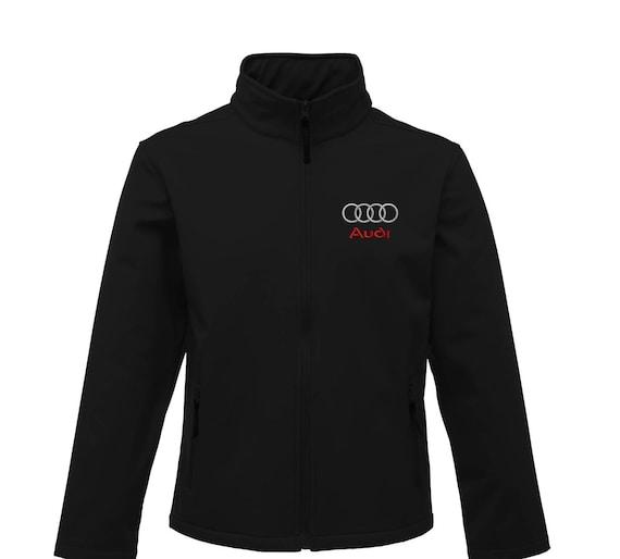 Audi BlackEmbroided 3 Layer Softshell Regatta Branded Jacket Coat rp0IunKUxV