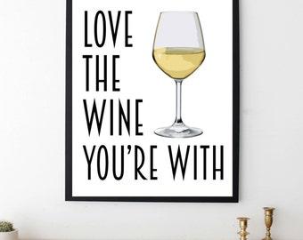 Wine Print - Wine Quote - Bar Art - Bar Decor - Kitchen Art - Wine Gift - Wine Art - Wine Decor - Wine Poster - Kitchen Decor - Wine Bar Art
