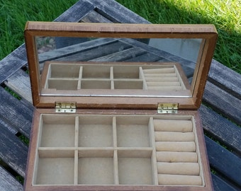 Jewelry Box, Vintage, Wooden, Montgomery Ward