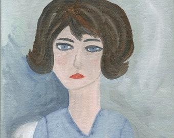 Shut the door on grief on regret on remorse. Original oil painting by Vivienne Strauss.