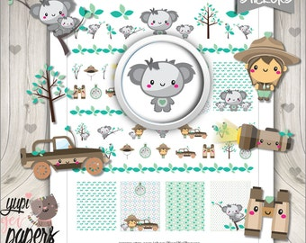 Koala Stickers, Planner Stickers, Forest Stickers, Planner Accessories, Animal Stickers, Bear, Australia, Koala Accesories