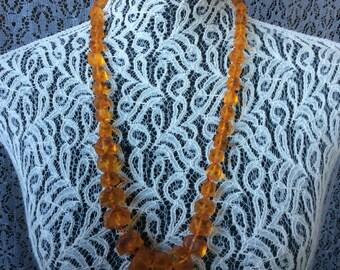 Vintage Necklace  Amber 76.54g
