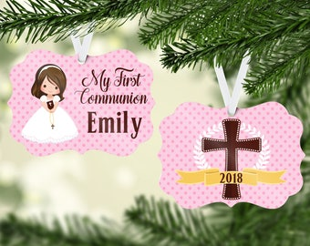 My first communion/First Communion/Holy Communion/Personalized Christmas ornament/Communion gift/Personalized Christmas ornament/Christmas
