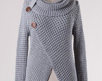Gracie Button Sweater (Grey)