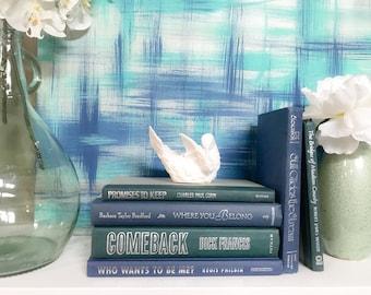 Blue Green Decorative Book Set