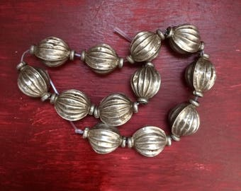 Old Silver 925 Turkmenistan Beads