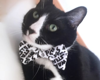 Cat Bowtie Star Wars Dress Ups for Your Pet Pet Bowtie Black and White