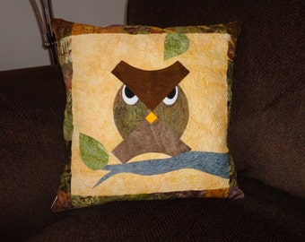 Quilted Owl Pillow