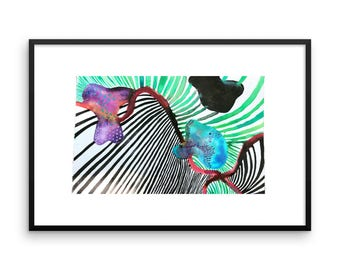 "framed photo paper ""fish"" print"