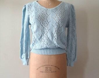 vintage BLUE FROST metallic sweater