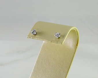 Sterling CZ Studs approx .50 ct each