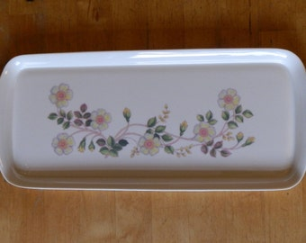 Vintage Oblong AUTUMN LEAVES Pattern Cream Melamine Serving Tray: St Michael, Marks and Spencer 1987