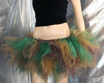Camo Warrior Princess Trashy Ragged tutu adult ALL Sizes MTCoffinz