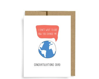 Graduation Card, Change the World