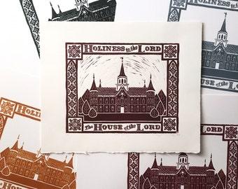 Provo Temple Bookplates // Adhesive Sticker Back