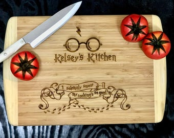 Harry Potter Inspired Custom Laser Etched Cutting Board