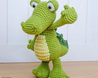Crocodile Amigurumi - PDF Crochet Pattern - Instant Download - Amigurumi crochet Cuddy Stuff Plush