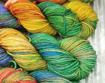 Hand Dyed Yarn - {Paradise Remembered} - Ares Worsted - 218 Yards, 100g - Indie Dyed Yarn