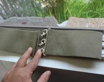 Cinch belt ,Wide elastic stretch corset belt, cinch belt , army green belt, one size belt, Belt, Wide belt, green elastic belt