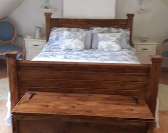 Le Crozon a unique handcrafted four post bed