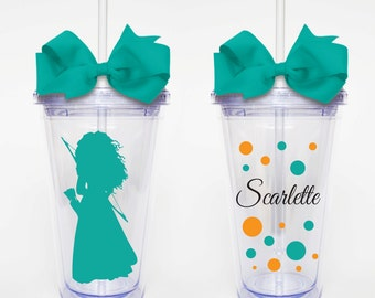 Princess Merida- Acrylic Tumbler Personalized Cup