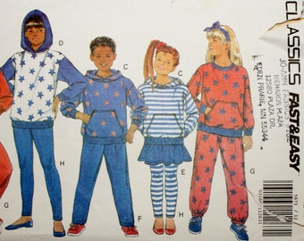 Butterick 5671 Child's Top, Skirt, Pants and Leggings Sewing Pattern Uncut Size 12-14