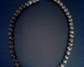 Leopardskin jasper bead necklace