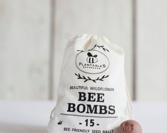 Bee Bombs - wildflower seed balls for pollinators, bag of 15