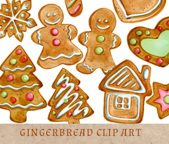 gingerbread cookies clipart christmas clip art gingerbread rh etsy com christmas cookies clipart border christmas gingerbread cookies clipart