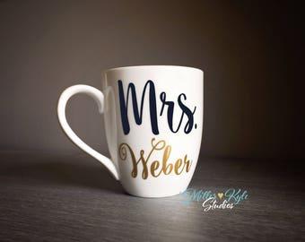 1 Personalized Mr. or Ms./Mrs. Coffee Mug - Teachers Gift - Wedding gift - Bridal Shower gift - Engagement Gift - Teacher Appreciation