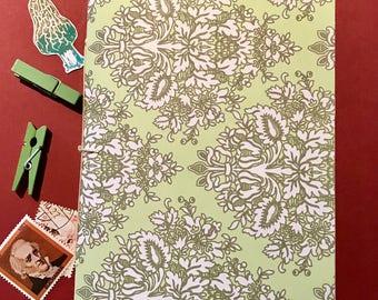 Handmade Planner Insert - Notebook - Handmade Journal Insert - 5x7 B6 size - Blank Journal - Blank Notebook - Floral Pattern