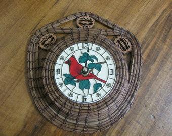 Handcrafted Pine Needle Clock