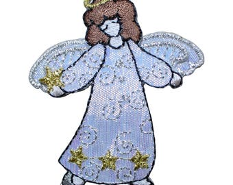 Angel With Open Arms Applique Patch (Iron on)