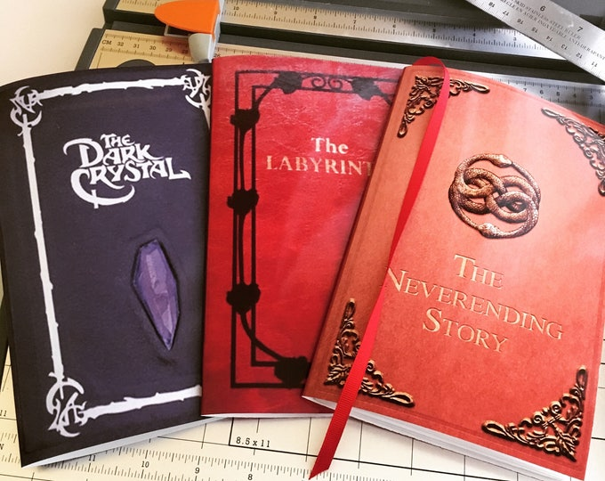 INSTANT DOWNLOAD Labyrinth, The Dark Crystal, & The Neverending Story, Collector's Edition DIY Notebooks Printable Download